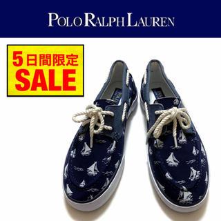 ラルフローレン(Ralph Lauren)の【新品】POLO RALPH LAUREN デッキシューズ ヨット柄 UK7.0(デッキシューズ)