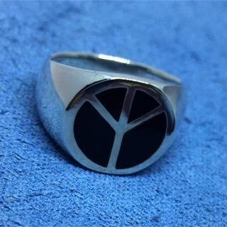 ピース オーバル 印台 平和 シルバー925リング シグネット 愛 銀 指輪(リング(指輪))