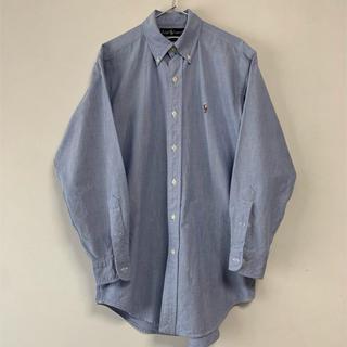 ラルフローレン(Ralph Lauren)の美品 90s POLO Ralph Lauren  長袖BDシャツ  ブルー(シャツ)