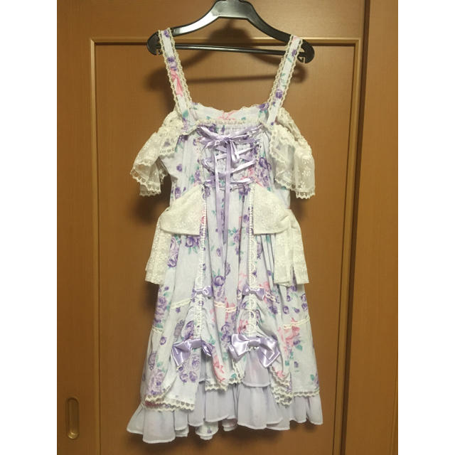 Angelic Pretty(アンジェリックプリティー)のエターナルローズブーケセット レディースのワンピース(ひざ丈ワンピース)の商品写真