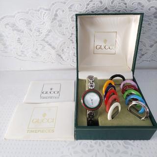 Gucci - GUCCI 腕時計 チェンジベゼル 稼働中 Sサイズ tt61