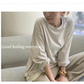 アパルトモンドゥーズィエムクラス(L'Appartement DEUXIEME CLASSE)の新品未使用 AMERICANA good feeling t-sh グレーC(カットソー(長袖/七分))