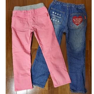 ミキハウス(mikihouse)のミキハウス mou jon jon 子供 パンツ ズボン 110㎝ 二本セット(パンツ/スパッツ)
