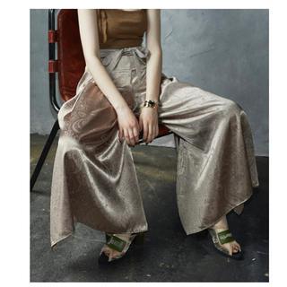 ALEXIA STAM - JUEMI Piping Paisley Thai Pants