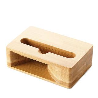 iPhoneスマホスタンドスピーカー 木製(スピーカー)