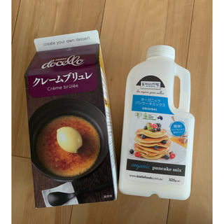 コストコ(コストコ)のコストコ クレームブリュレ&パンケーキミックス(菓子/デザート)