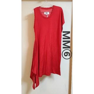 エムエムシックス(MM6)のMM⑥ エムエムシックス アシンメトリー ワンピース Tシャツ(Tシャツ(半袖/袖なし))
