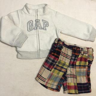 ベビーギャップ(babyGAP)の♡baby Gap パーカー チェックズボン 2点 セット(その他)