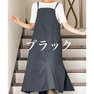【新品・未使用】エプロン b2c sarasa design ブラックカラー(その他)