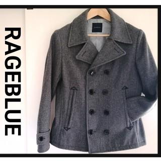 レイジブルー(RAGEBLUE)の【美品】コート メンズ レイジブルー RAGEBLUE ピーコート 灰色 グレー(ピーコート)