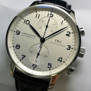インターナショナルウォッチカンパニー(IWC)のIWC ポルトギーゼ クロノグラフ IW371446 メンズ 白文字盤(腕時計(アナログ))