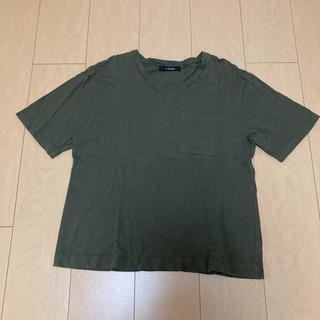ダブルクローゼット(w closet)のw closet 胸ポケットVネックTシャツ カーキー(Tシャツ(半袖/袖なし))