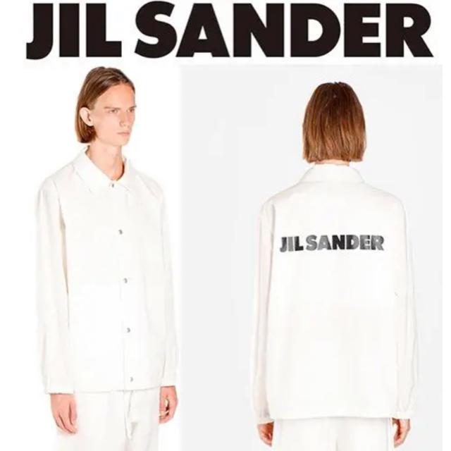 Jil Sander(ジルサンダー)の【新品】JIL SANDER ジルサンダー ロゴ ジャケット シャツ メンズのジャケット/アウター(その他)の商品写真