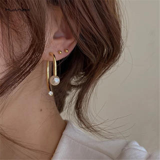 Lily Brown - import select*ボディピ風キャッチ✨ゴールドピアス