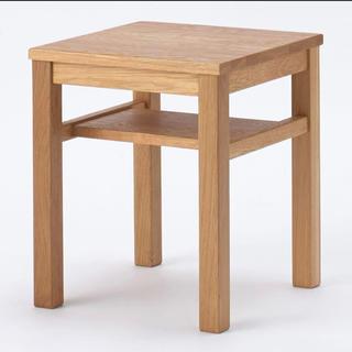 ムジルシリョウヒン(MUJI (無印良品))の無印良品 木製サイドテーブルベンチ(コーヒーテーブル/サイドテーブル)
