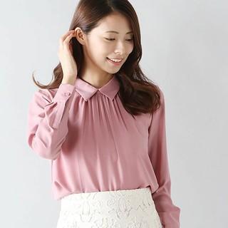 ANAYI - 【未使用】ANAYI キュプラツイルシャツカラーブラウス