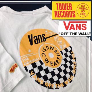 VANS - 【限定品‼️】vans × タワレコ コラボ レコード s/s tシャツ