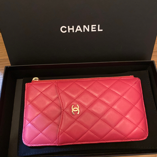 CHANEL - CHANEL iPhoneケース ポーチ 財布 ラムスキン  ピンク