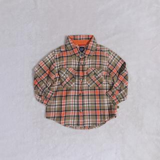 ベビーギャップ(babyGAP)のbabyGAP   チェック柄 長袖 シャツ(Tシャツ/カットソー)