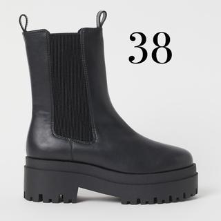 エイチアンドエム(H&M)のH&M プラットフォーム チェルシーブーツ 38(ブーツ)