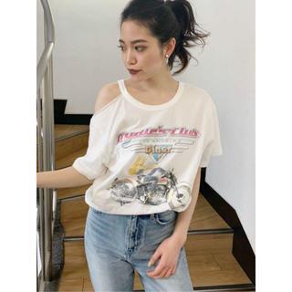ジェイダ(GYDA)のGYDA  Losangeles dinerショルダーカットTシャツ(Tシャツ(半袖/袖なし))