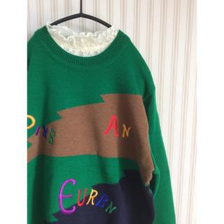 サンタモニカ(Santa Monica)の古着 レトロ  刺繍 ニット セーター vintage used  ヴィンテージ(ニット/セーター)