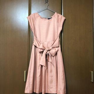 グリーンレーベルリラクシング(green label relaxing)のユナイテッドアローズ♡美品 シャンタンwリボンワンピースドレス(ミディアムドレス)