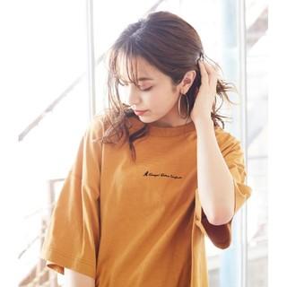 カンゴール(KANGOL)の値下げ KANGOL 裾ラウンド チュニック Tシャツ オーバーサイズ(Tシャツ(半袖/袖なし))