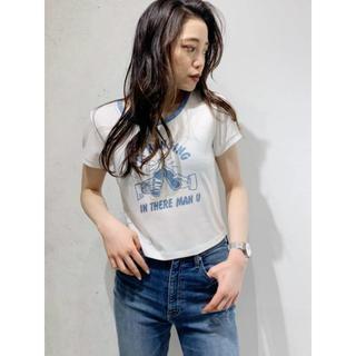 ジェイダ(GYDA)の即日発送!! GYDA Im hangingリンガーショートTシャツ ホワイト(Tシャツ(半袖/袖なし))