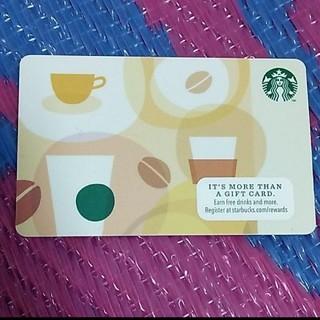 スターバックスコーヒー(Starbucks Coffee)の新品 スターバックスカード アメリカ限定(フード/ドリンク券)