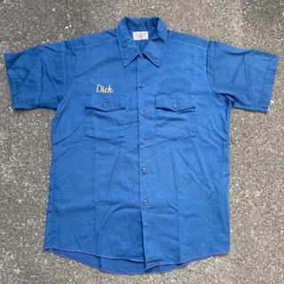 Dickies - USA製 dickies シャツ ネイビー