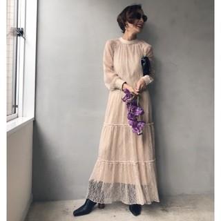 Ameri VINTAGE - 新品タグ付き アメリヴィンテージ SHIRRING SHEER DRESS