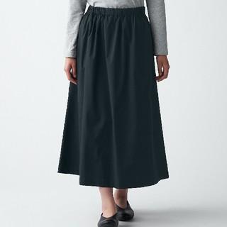 MUJI (無印良品) - ◆新品◆ 無印良品 ストレッチ高密度織りスカート/M~L/黒
