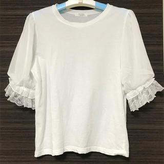 dholic - 袖レースポイントTシャツ