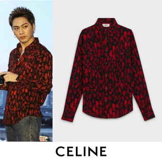 celine - CELINE セリーヌ ウエスタン シャツ パイソン 柄 3代目 登坂 着用