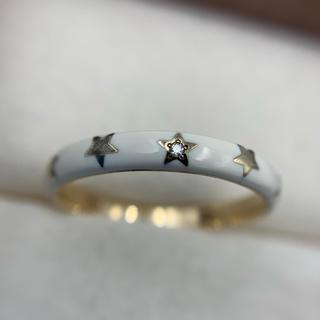 スタージュエリー(STAR JEWELRY)のスタージュエリー K10 ダイヤ エナメル リング(リング(指輪))