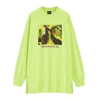 ジーユー(GU)のGUロングスリーブT(長袖)Disney1Y+EマレフィセントグリーンLサイズ(Tシャツ(長袖/七分))