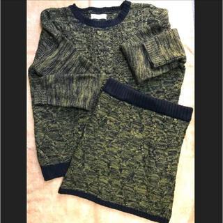 セシルマクビー(CECIL McBEE)のCECIL McBEE セットアップ セーター スカート トップス(セット/コーデ)