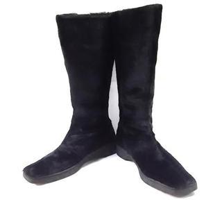 サルヴァトーレフェラガモ(Salvatore Ferragamo)のサルバトーレフェラガモ ブーツ 6 1/2 - 黒(ブーツ)