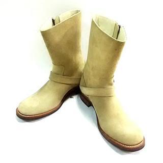 ジュンハシモト ブーツ 42 メンズ ベージュ(ブーツ)
