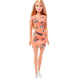 バービー(Barbie)のバービー はじめてのバービー オレンジ barbie グラフィックデザインの洋服(ぬいぐるみ/人形)