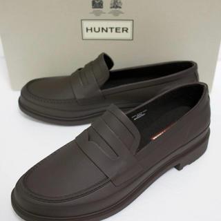 ハンター(HUNTER)の定価16500 新品 本物 HUNTER メンズ リファンド ペニー ローファー(長靴/レインシューズ)