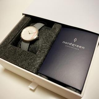 ダニエルウェリントン(Daniel Wellington)のNordgreen 腕時計 レディース グレーレザー(腕時計)