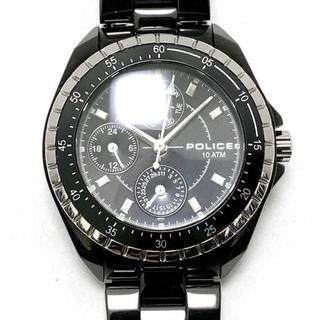 ポリス(POLICE)のポリス 腕時計美品  11301M メンズ 黒(その他)