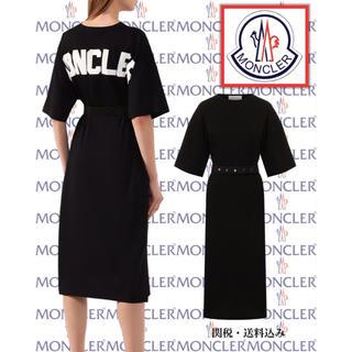モンクレール(MONCLER)のモンクレールロゴプリントTシャツドレス(ひざ丈ワンピース)