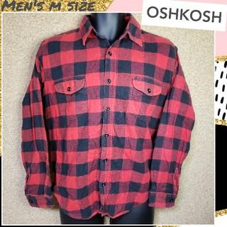 オシュコシュ(OshKosh)の☆OSHKOSH☆バッファローチェック ネルシャツ 長袖 メンズMサイズ(シャツ)