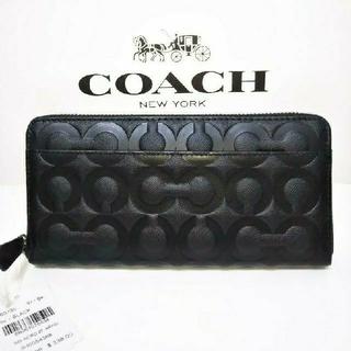 COACH - COACH コーチ オプアート柄 長財布 新品未使用 ブラック