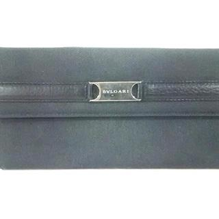 ブルガリ(BVLGARI)のブルガリ 長財布 - 黒 キャンバス×レザー(財布)