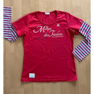 ルコックスポルティフ(le coq sportif)の美品 ルコック レディース ロンT 長袖シャツ L(Tシャツ(長袖/七分))