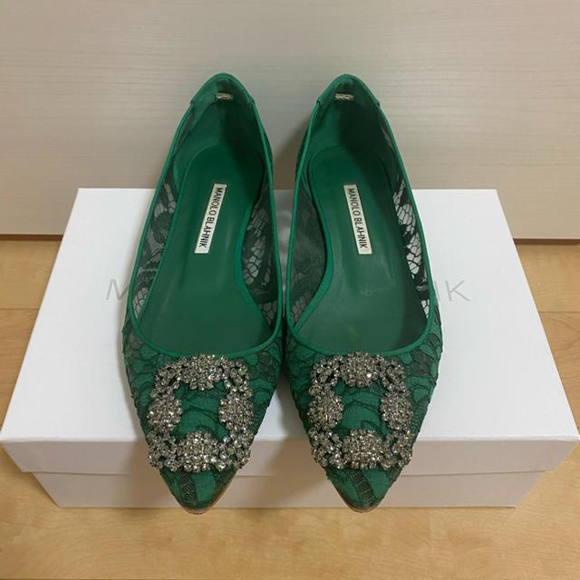 MANOLO BLAHNIK(マノロブラニク)のマノロブラニク レース フラットシューズ  レディースの靴/シューズ(バレエシューズ)の商品写真
